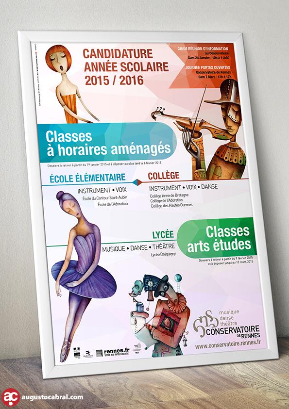Affiche Graphiste Rennes - Conservatoire de Rennes